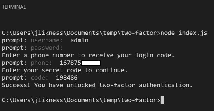 2 Factor Authentication Code
