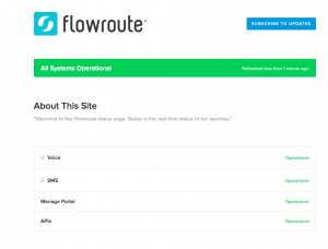 Flowroute status page